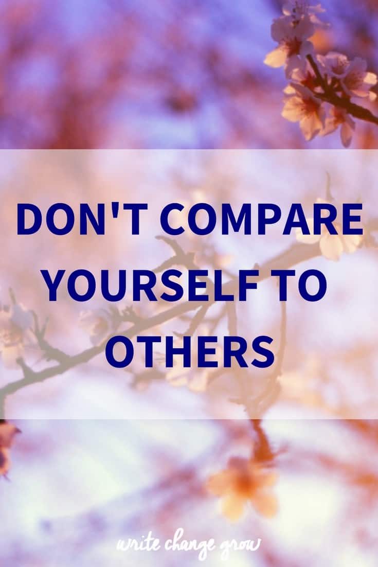 Why you should never compare yourself to others