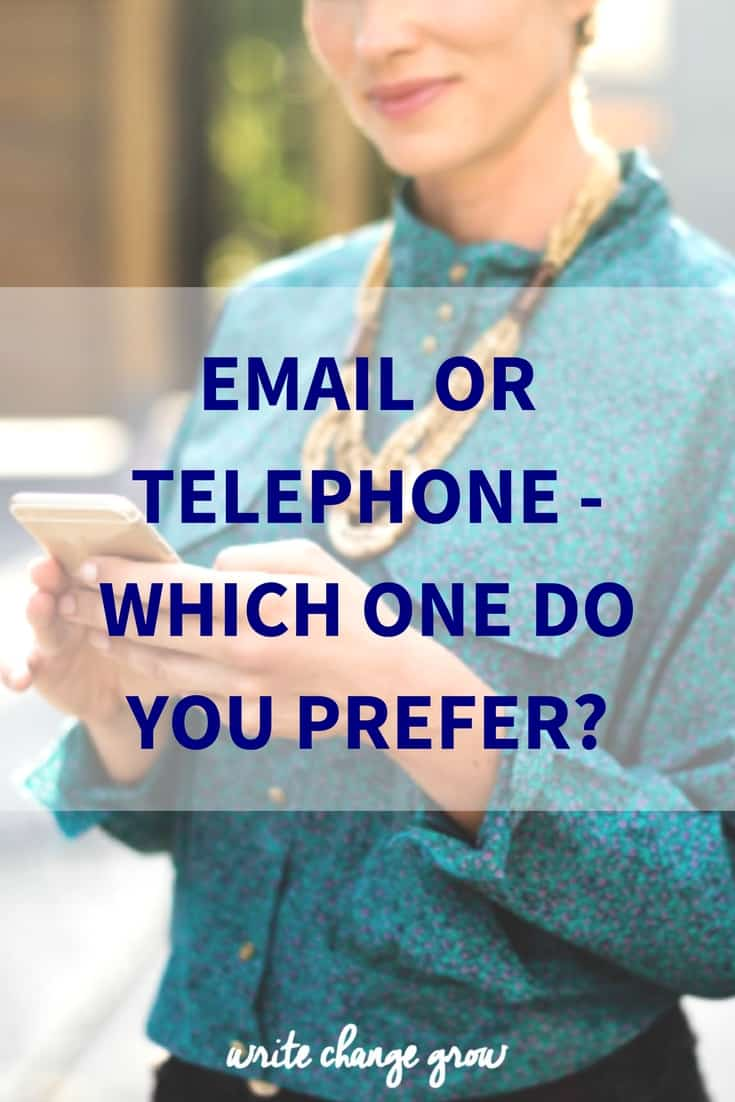 Email or Telehone - Which One Do You Prefer?