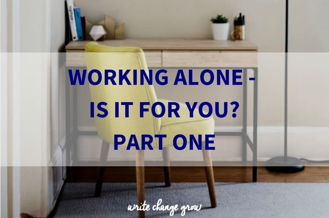 Working Alone – Is it for you?