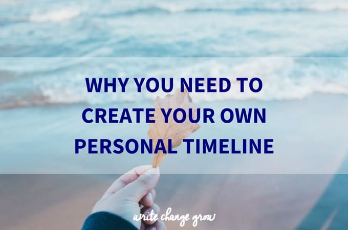 This is an interesting exercise. Try it for yourself, create your own personal timeline.
