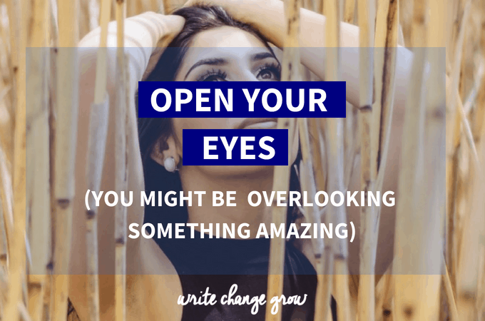 Sometimes we miss the most amazing things because we overlook them or see them so often. Open your eyes and take another look.