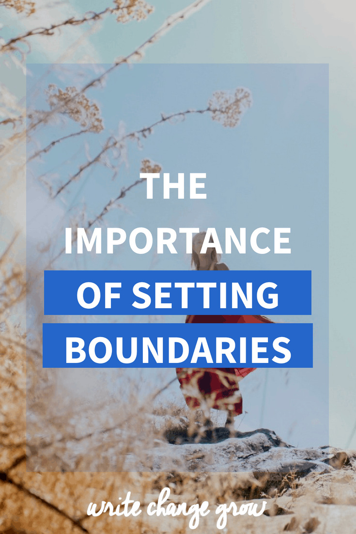 Setting boundaries is important. Boundaries let people know how we want to be treated. Read the importance of setting boudaries.