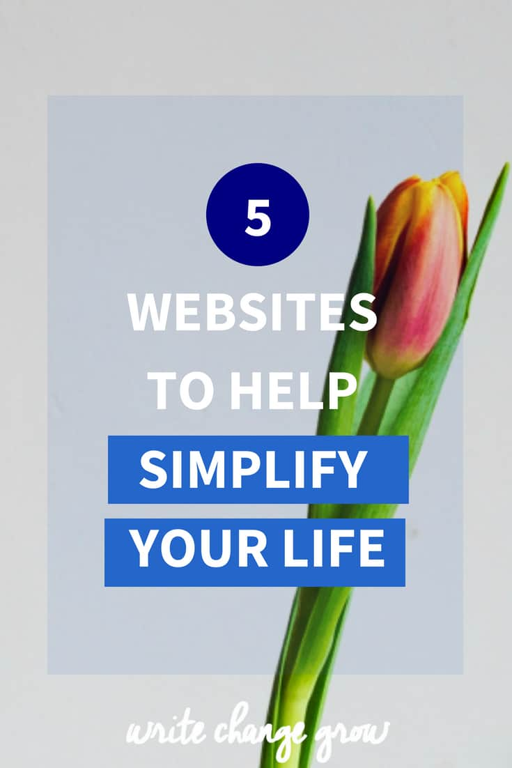 Simplify your life. Be happier. Live more with less. Read 5 Websites to Help Simplify Your Life.