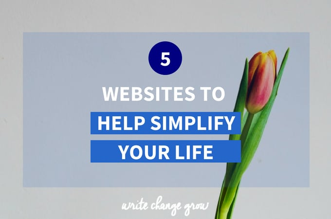 5 Websites to Help Simplify Your Life