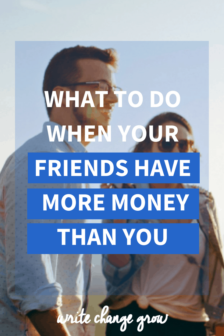 Do your friends have a lot more money than you? If money a bit of a taboo topic amongst your friends? Read what to do when your friends have more money than you.