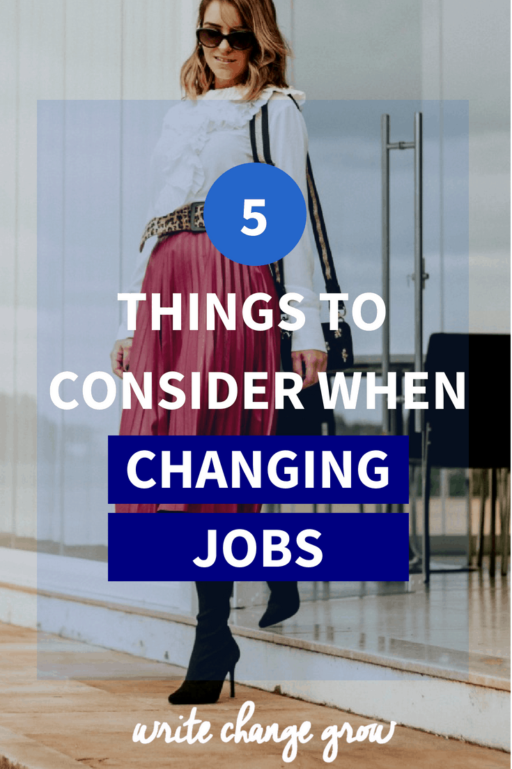 Depending on your unique situation changing jobs can be challenging, exciting or both. Read 5 Things to Consider When Changing Jobs.