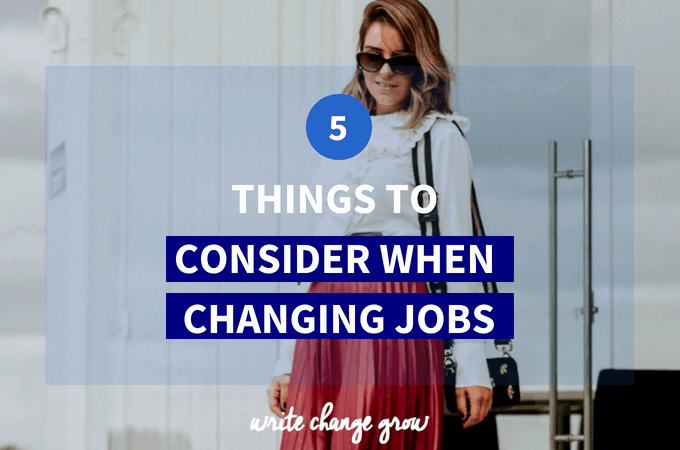 Changing Jobs