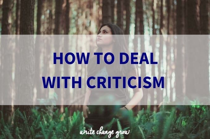 Criticism can be tough but we all need to learn to deal with it.