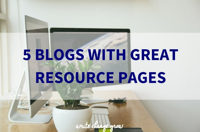 5 Blogs with Great Resource Pages