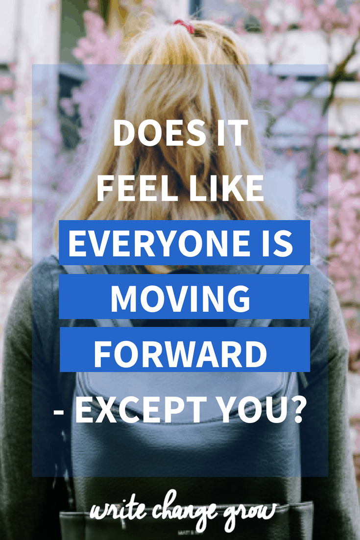 Does it feel like everyone is moving forward - except you? People around you might be getting promoted, getting married and going on exciting vacations while it feels like you aren't making any progress at all. Read the full post for details on how you can shift your mindset and take action to get you moving forward.