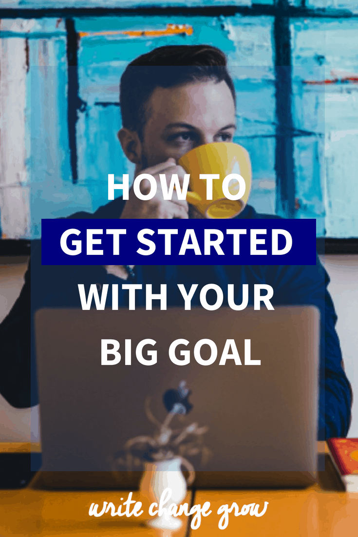 Having trouble getting started? Read how to get started with your big goal.