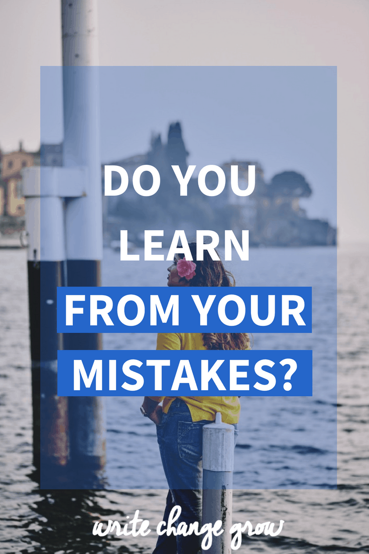 Do you learn from your mistakes? Read the post to ask yourself some important questions when it comes to your mistakes.
