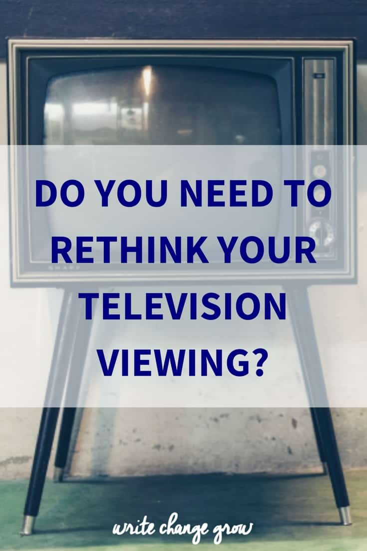Do you need to rethink what you are watching on television?