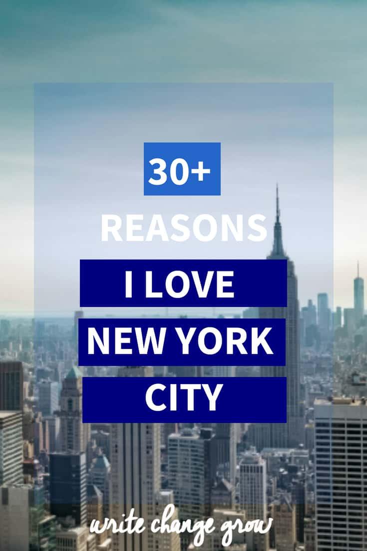The reasons I love New York City.