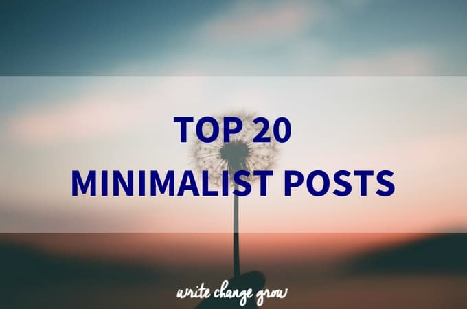 Top 20 Minimalist Posts