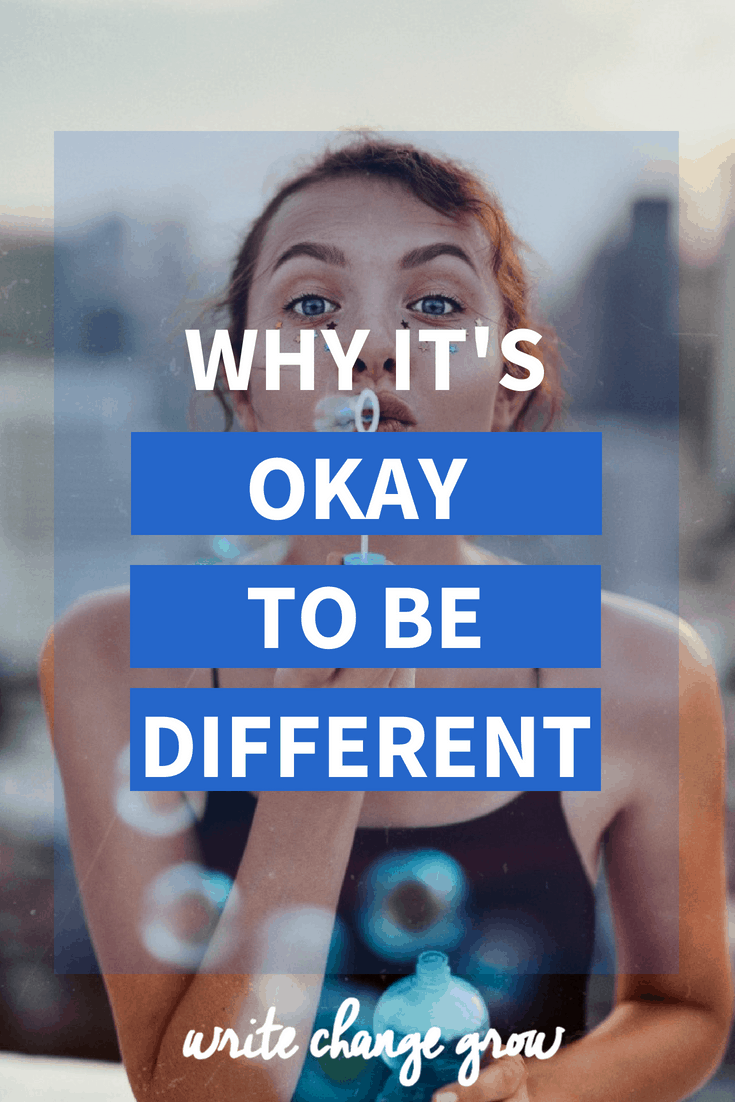 Instead of embracing who we truly are, we try to hid who we are so that we fit in. It's time to stop hiding. It's time to celebrate being different. Read Why It's Okay to Be Different.