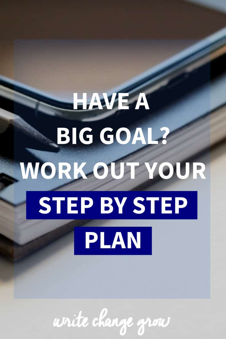 Have a big goal you want to accomplish? It's time to work out your step by step plan to make it happen.
