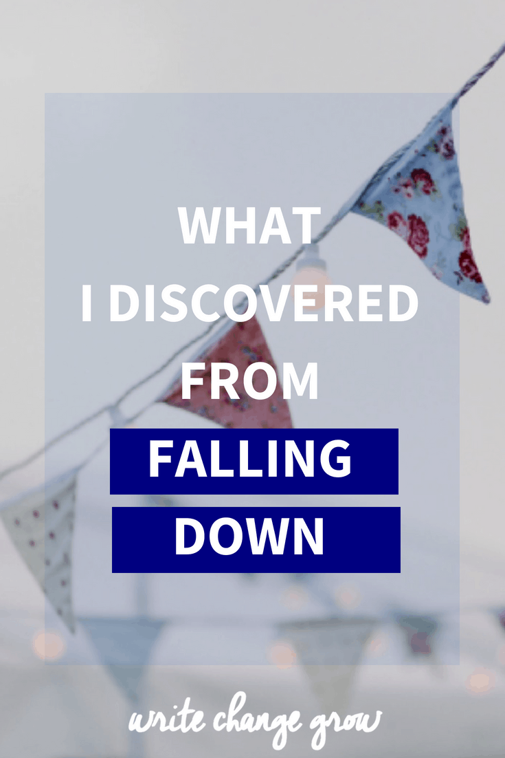 We can fall down in life in all sorts of ways, physically, emotionally and mentally. Here is my story of falling down.