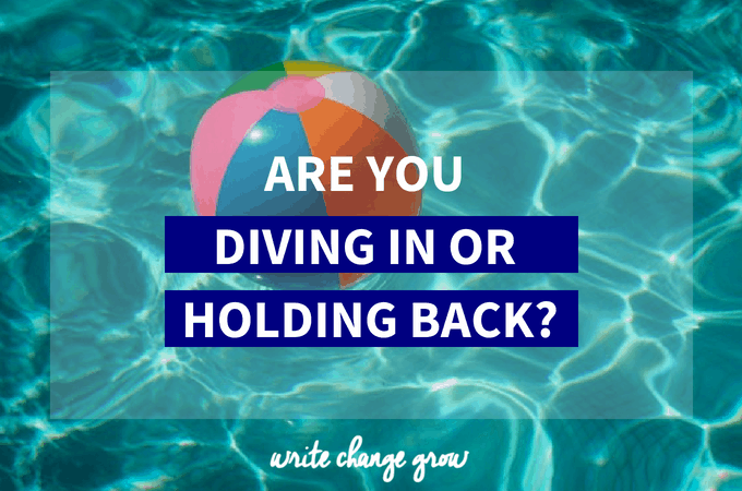 Are You Diving In or Treading Water?