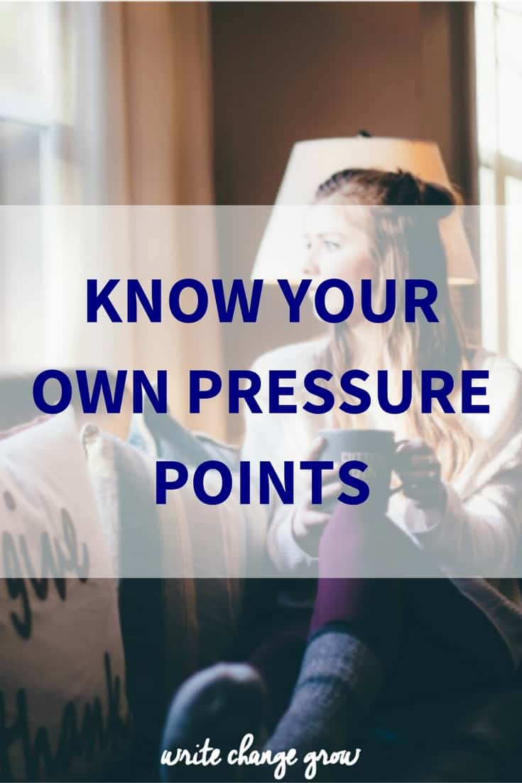 The importance of understanding and controlling your pressure points.