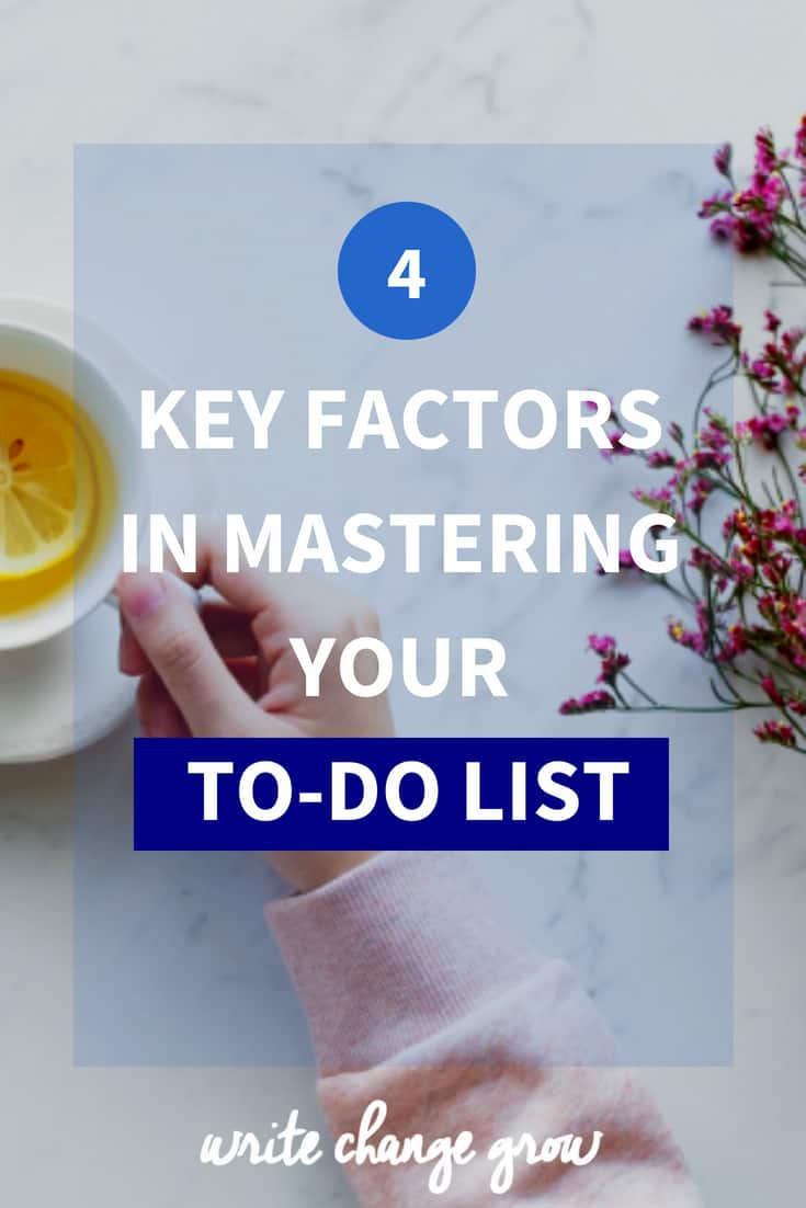 Read 4 key factors in mastering your to-do list.