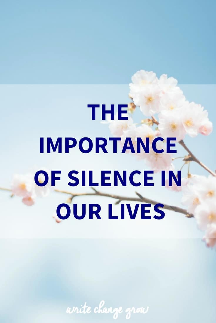The importance of silence in our lives. How often do you sit in silence?