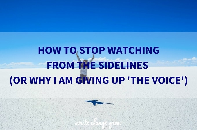 Are you standing on the sidelines watching other people achieve their dreams when you should be focusing on achieving your own?