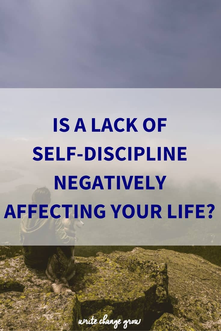 It's time to examine your level of self-discipline.