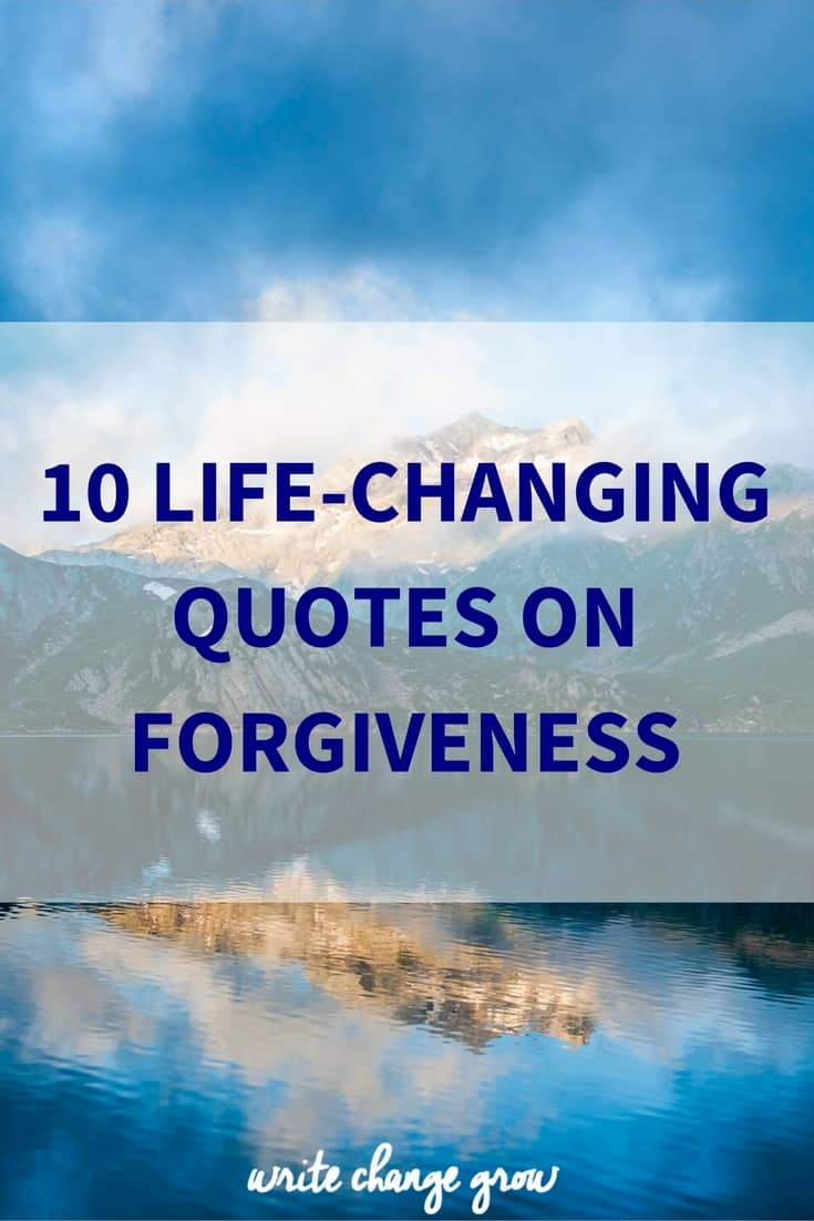 It's time to embrace forgiveness.