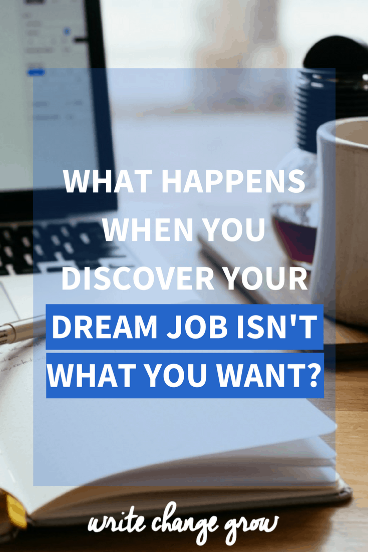 After struggling and working so hard for what you want, what happens when you discover your dream job isn't what you want after all. Read the post to find out.