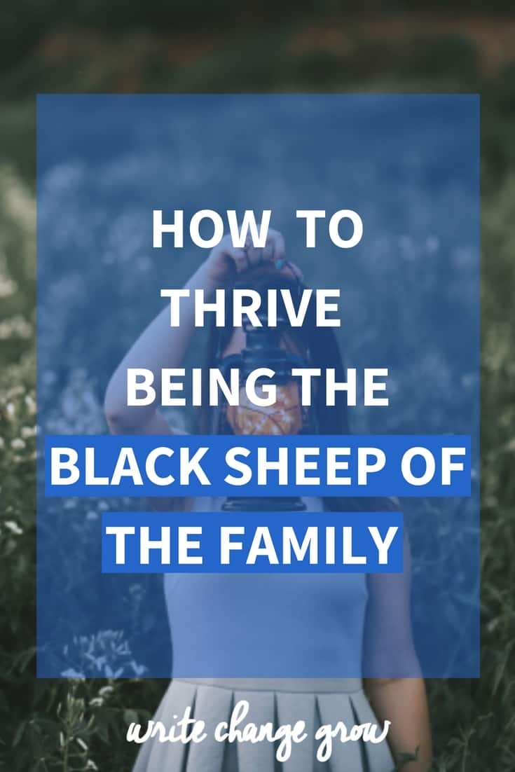 Black sheep of the family? No problem, read my tips on how to thrive being the black sheep of the family.