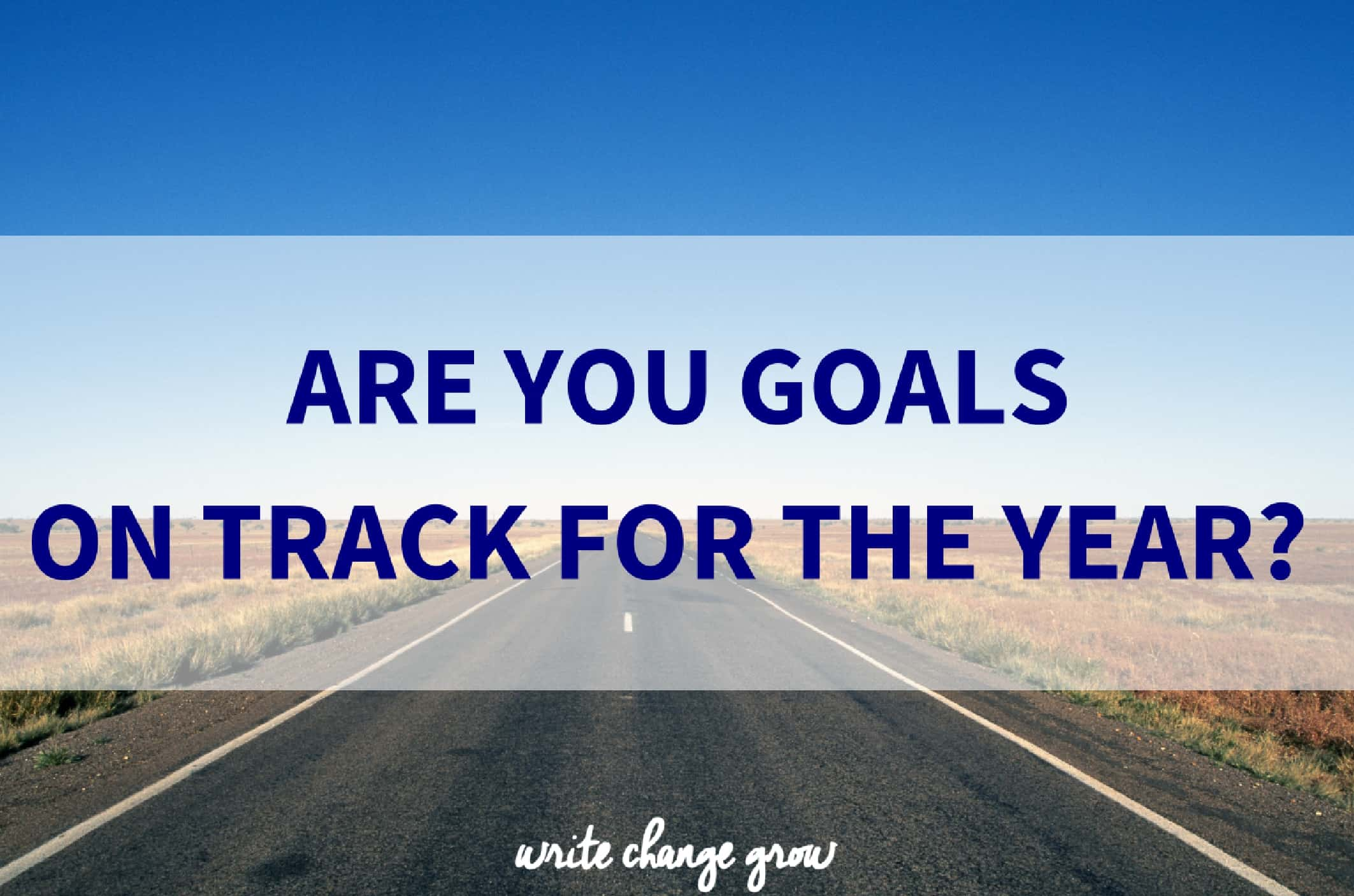 Time to assess how your goals are going for the year.