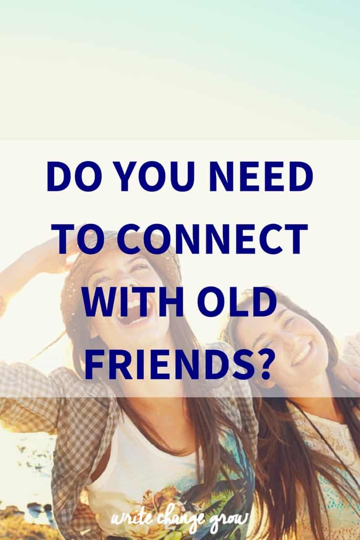 The joy of connecting with old friends.