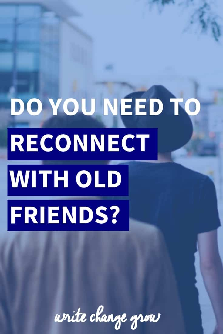 Do you need to reconnect with old friends? It's time to organize a catch up with that friend you haven't seen in a while.