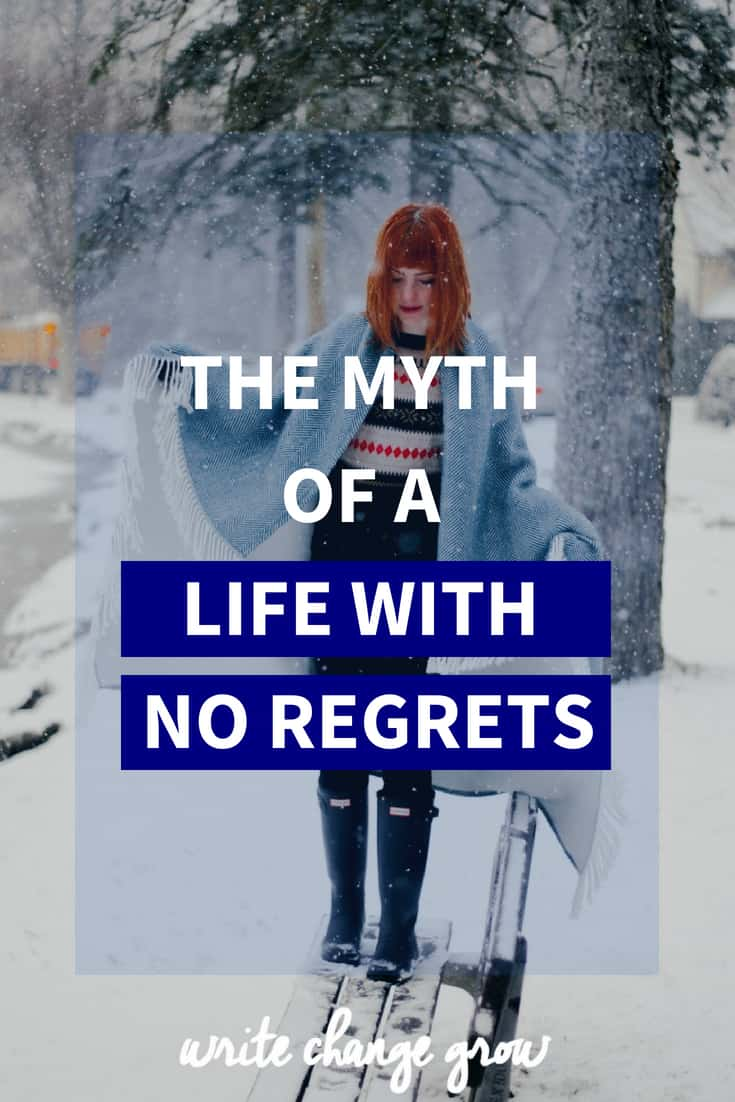 You will have regrets but it's your attitude about those regrets that matters. Read The Myth of a Life With No Regrets.
