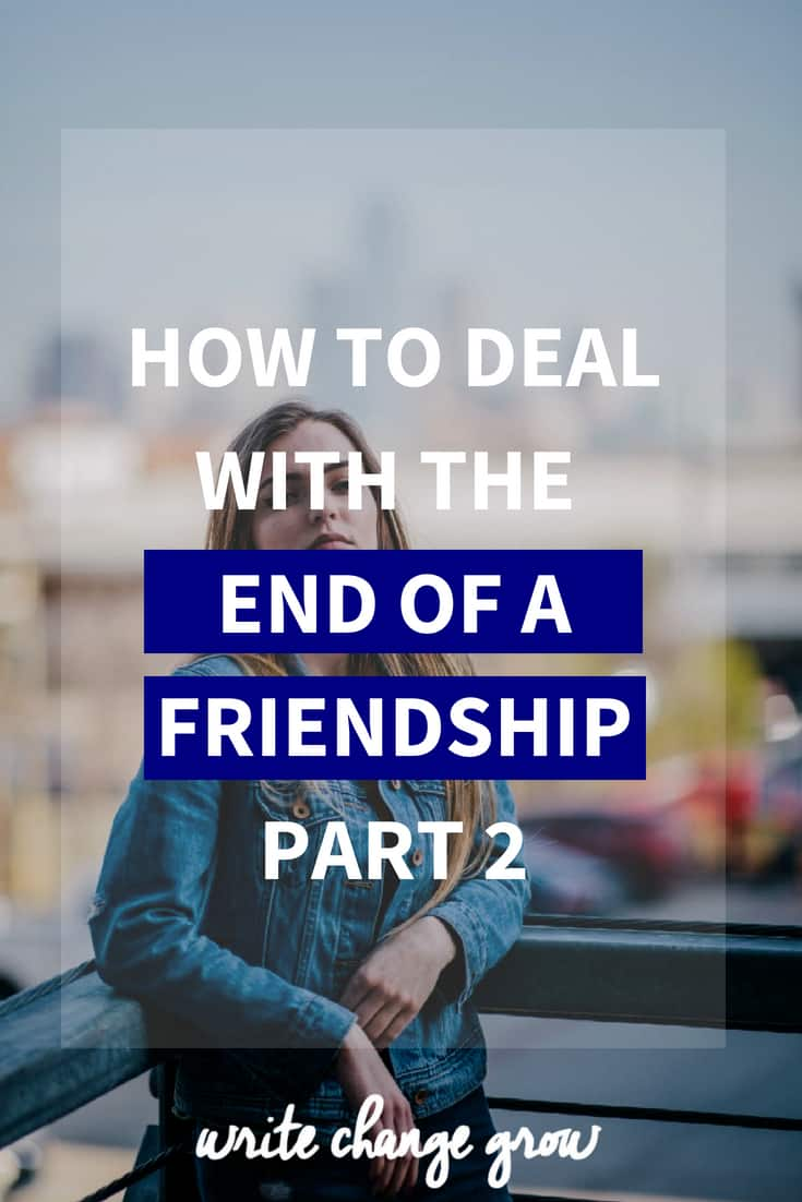 Dealing with the end of a friendship can be hard. Read How to Deal with the End of a Friendship Part 2.