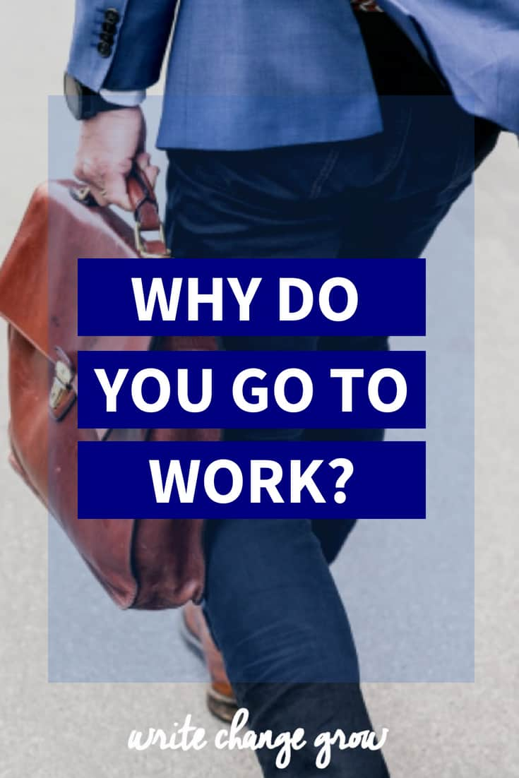 Why Do You Work? What do you get from going to work? Here are 11 reasons we get up and go to work. Which ones can you relate to the most?