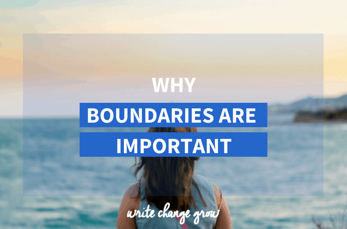 Boundaries are important because they let people know how we want to be treated. They let people know what behavior is and isn't acceptable.