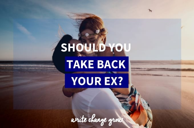 Taking back your ex is not something to take lightly. We break-up for a reason. Which invites the queston - should you take back your ex?