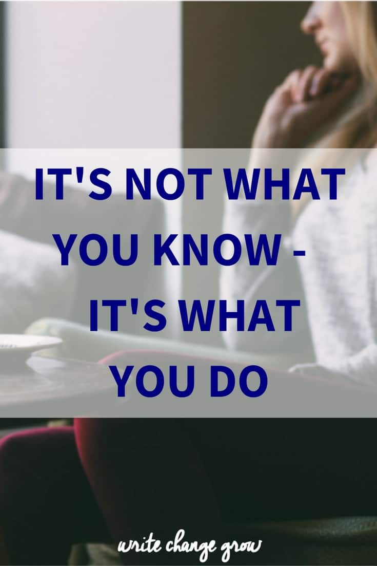 It's about what you do - so take action now.