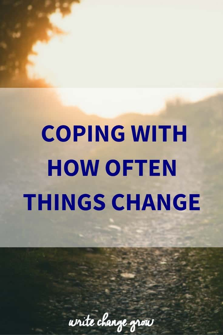 Sometimes it's not the change itself that leaves us spinning, it's how often things change.