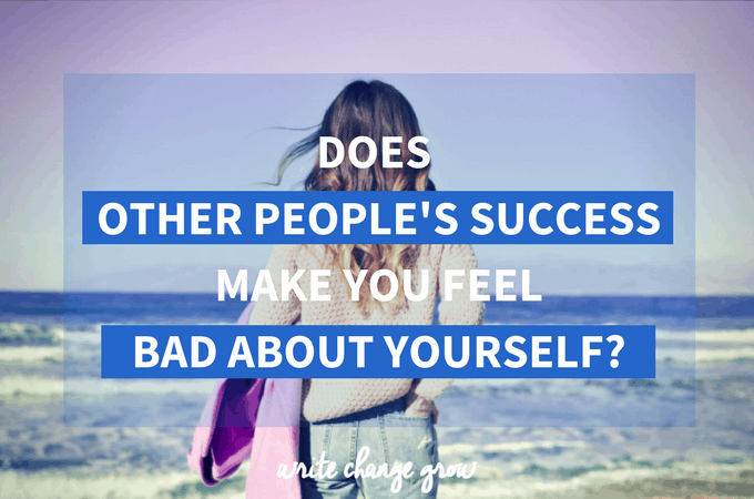 When other people succeed do you feel happy for them or does their success make you feel bad about yourself? Read the post to see how you can feel happy for other people and still be happy with yourself as well.
