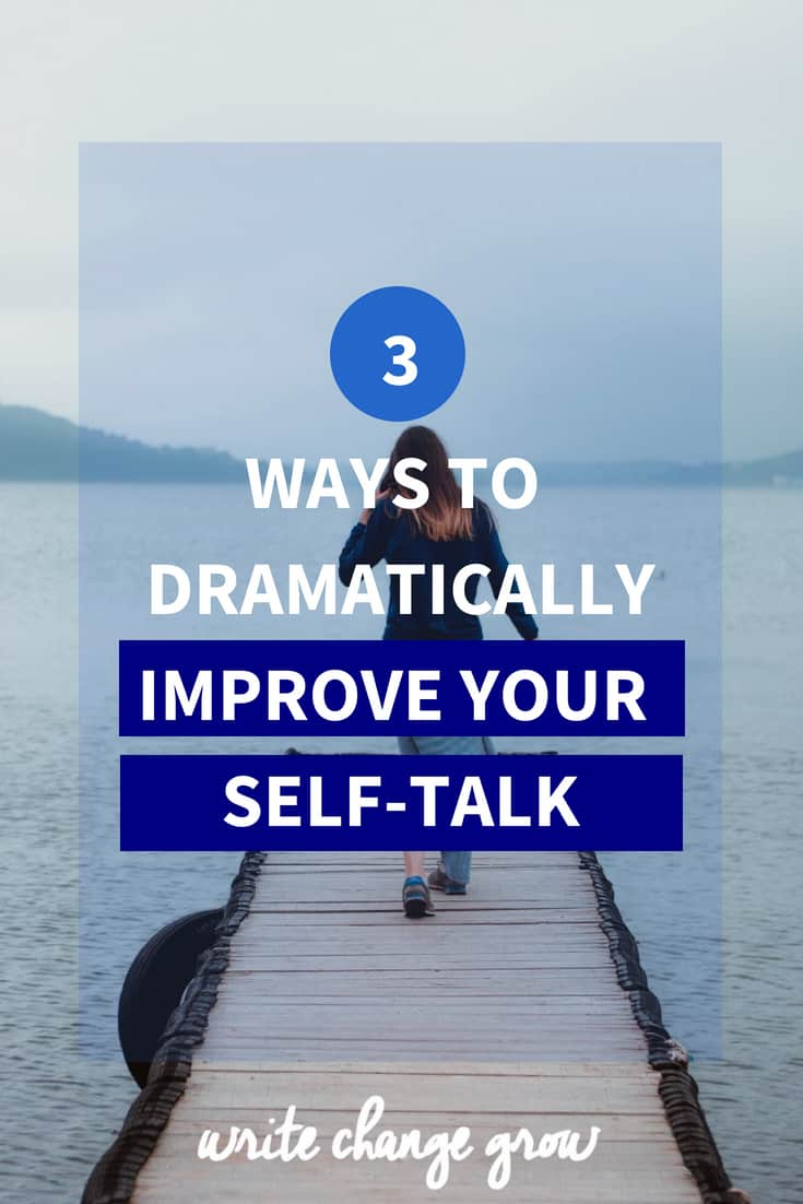 How you talk to yourself is incredibly important. Read 3 Ways to improve your self-talk.