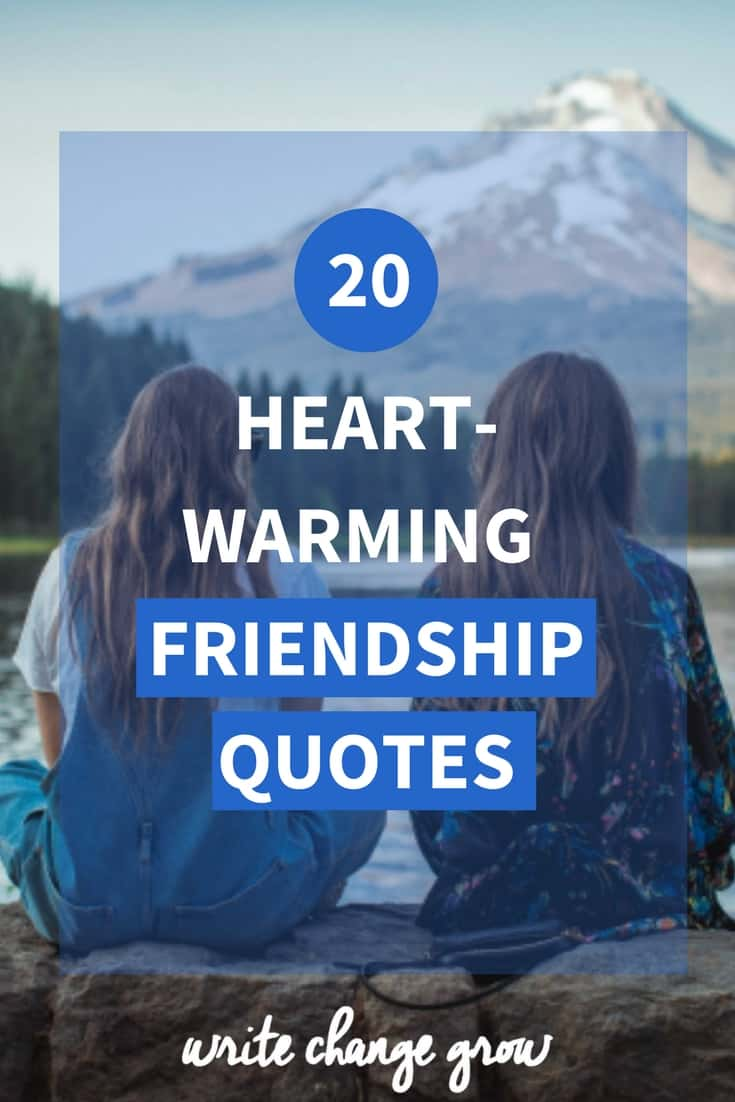 We love and support our friends and they are an important part of our lives. Click through to read 20 Heart-Warming Friendship Quotes