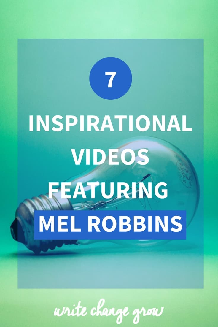 Time to get inspired. Sit back relax and enjoy these 7 inspirational videos featuring Mel Robbins.