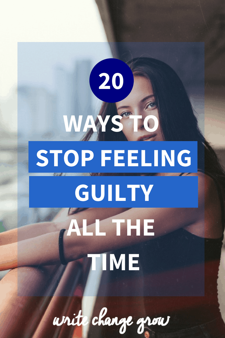 Guilt can eat away at us if we let it. It can hold us back and stop us moving forward in life. Read 20 ways to stop feeling guilty all the time.