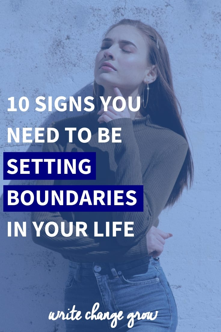 Could your life benefit from setting stronger boundaries? Is your life chaotic or full of drama? Read 10 Signs you need to be setting boundaries in your life.